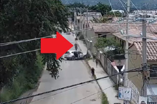 Graban ataque de sicario contra familia en calles de Oaxaca