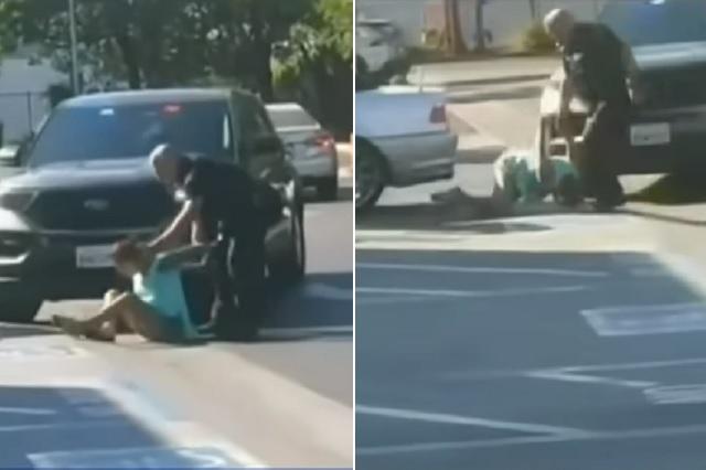 Frente a sus hijos: Policías golpean brutalmente a mujer para detenerla