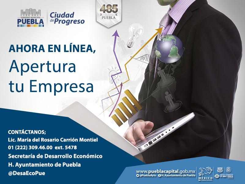 Ayuntamiento de Puebla ofrece apertura de negocios en línea