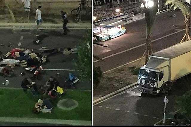 Atentado terrorista en Francia deja un saldo de 84 muertos y 18 heridos