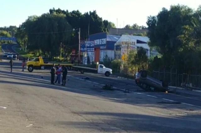 Mueren dos motociclistas en la federal Atlixco-Puebla