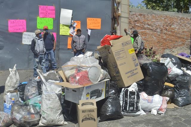 Paran en Limpia en Atlixco por malas condiciones laborales