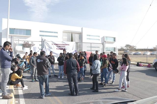 Mantienen paro activo estudiantes de la BUAP en Atlixco