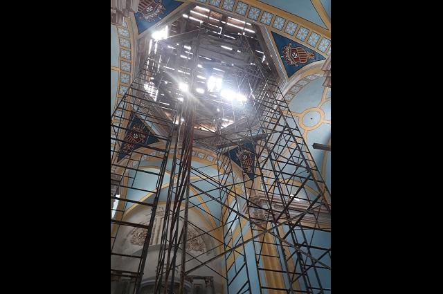 Torre de iglesia en Atlixco, en riesgo por falta de restauración
