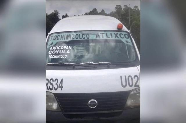 Roban unidad del transporte en el municipio de Atlixco