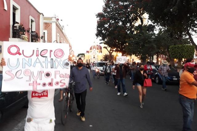 En marcha piden destitución del secretario de seguridad en Atlixco