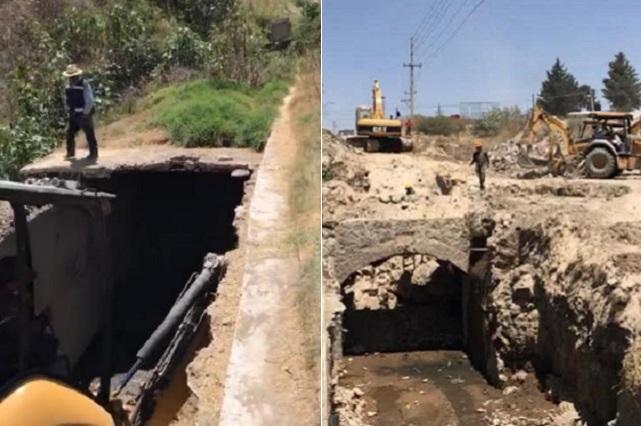 Agua de Puebla rehabilitará colector La Carmelita, del río Atoyac