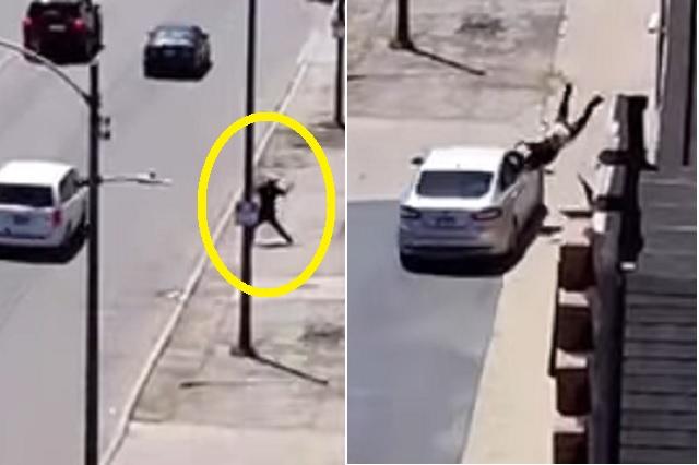 Conductor atropella a hombre por haber apedreado su auto