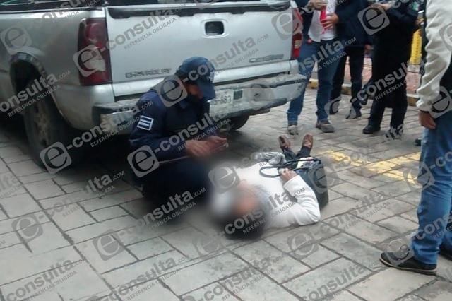 Atropellan a mujer de la tercera edad en centro de Huauchinango