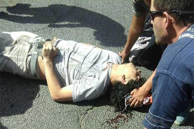 Reportan grave a joven atropellado en marcha contra gasolinazo