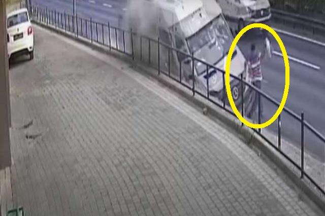 Un salto le salvó la vida; estuvo a segundos de ser atropellado