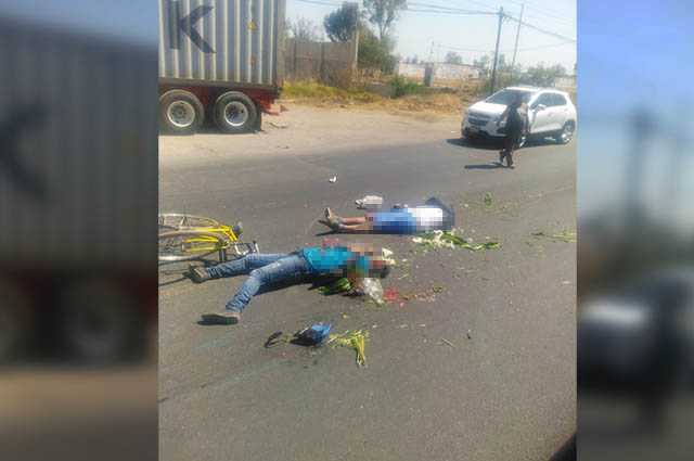 Un ciclista muerto y otro herido deja accidente en Texmelucan