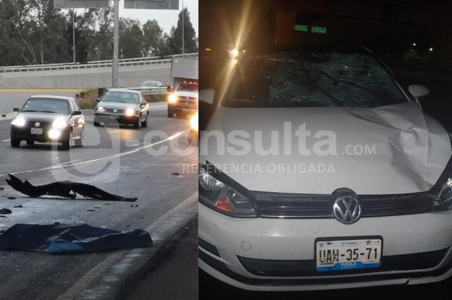 Atropellan y matan a dos personas en la Puebla-Orizaba