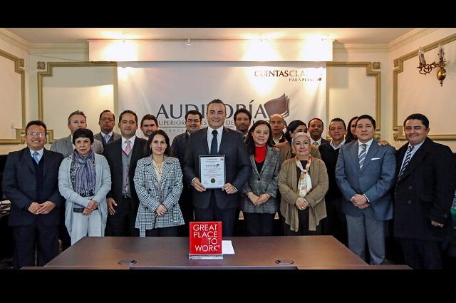 Auditoría Puebla se mantiene como un Excelente Lugar para Trabajar