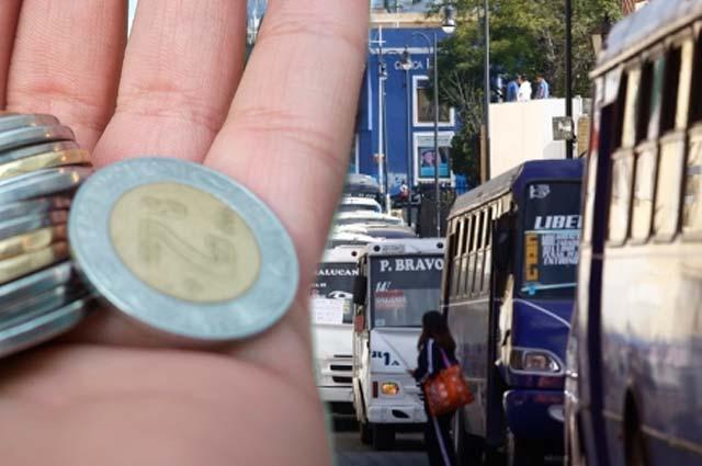 Perfilan aumento de 2.50 pesos a la tarifa del transporte en Puebla