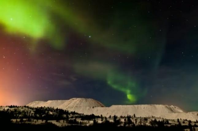 Mira las impresionantes auroras boreales en cielo de Finlandia