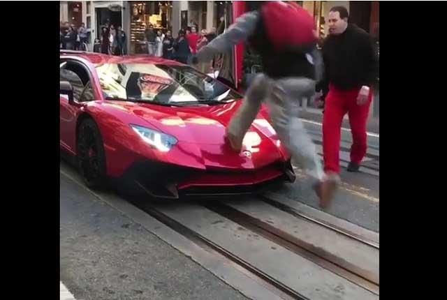Sujeto maltrata un Lamborghini, reta a su dueño… y le va mal