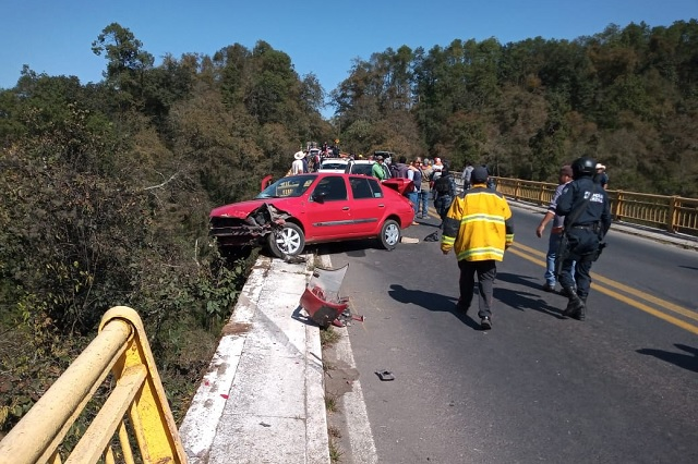 Cae hombre de Puente Totolapa tras accidente vehicular
