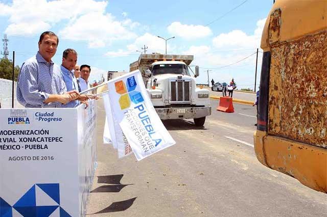 Inician rehabilitación de distribuidor vial de la autopista Puebla-México
