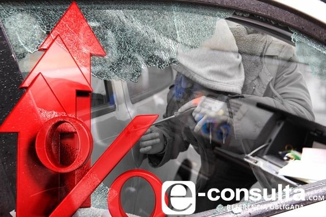 Crecen de 10 a 38 los robos diarios de autos en Puebla en sólo 3 años