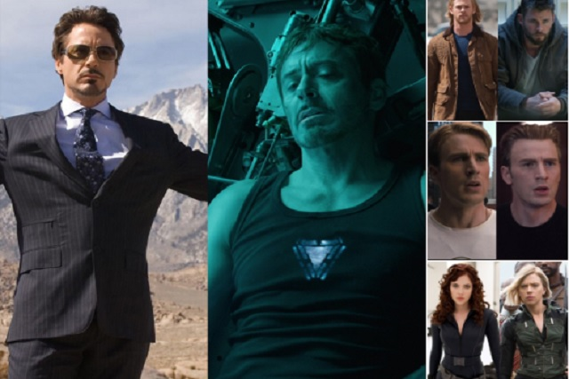 Los Avengers se suben al #10YearChallenge