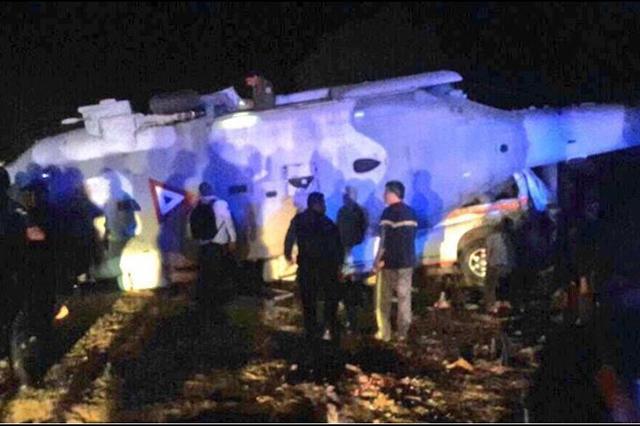 Caída de helicóptero en Oaxaca deja un saldo de 13 personas muertas