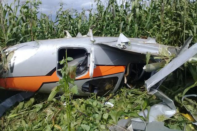 Cae avioneta tras despegar del aeropuerto de Huejotzingo