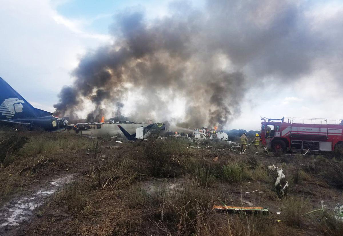 Se desploma en accidente aéreo avión de Aeroméxico en Durango