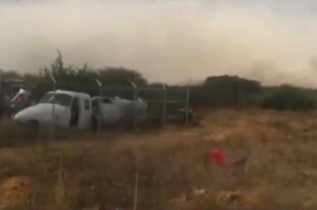 Muere piloto en desplome de avioneta en Atizapán