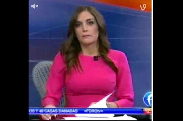 Que cabrón: expresa conductora de Televisa y descuido se viraliza
