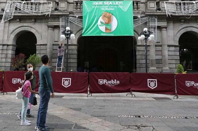 Ayuntamiento de Puebla se suma a debate sobre el aborto