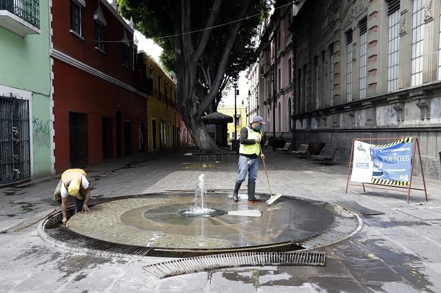 Ayuntamiento de Puebla mantiene servicios públicos en activo