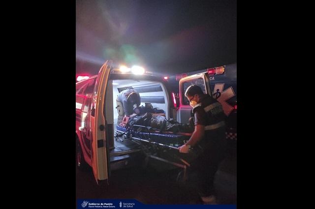 Vuelca vehículo de la GN en Huejotzingo; hay 6 heridos