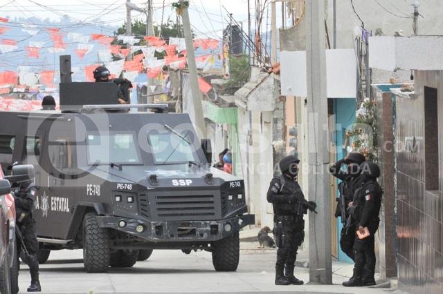 Negro historial de agresiones a policías en Xonacatepec
