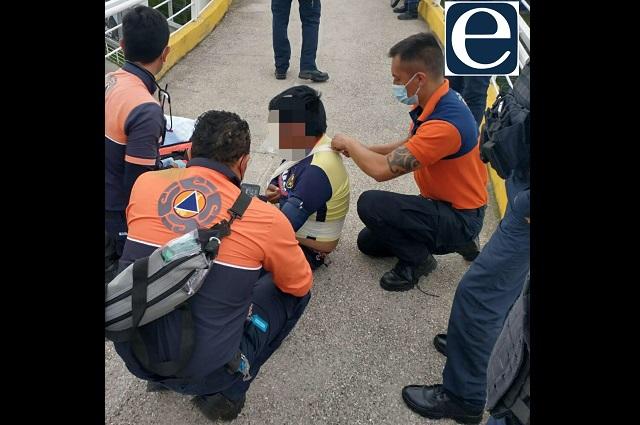Joven intenta suicidarse en puente peatonal de La María
