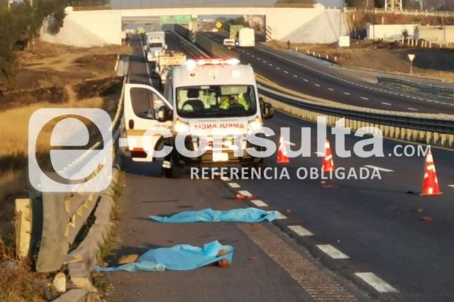 Otro atropellado muere sobre la Puebla-Orizaba