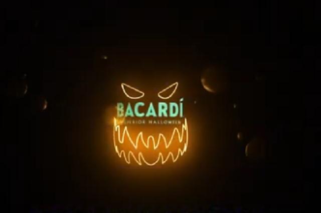 Lanza Bacardí México botella especial edición de Halloween