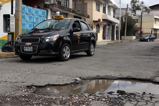 Se queda Puebla capital sin seguro para baches