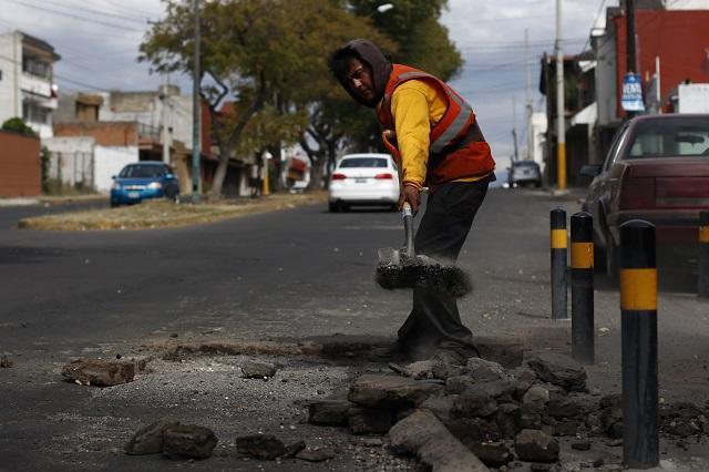 Rebasa los 500 mdp gasto para baches en Puebla capital