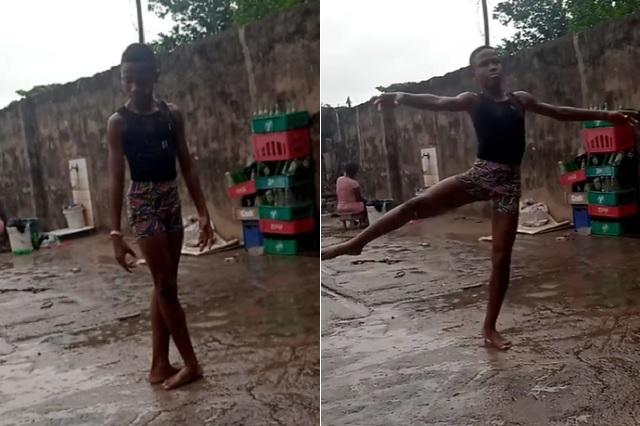 Universidad ofrece beca a joven que bailaba descalzo bajo la lluvia