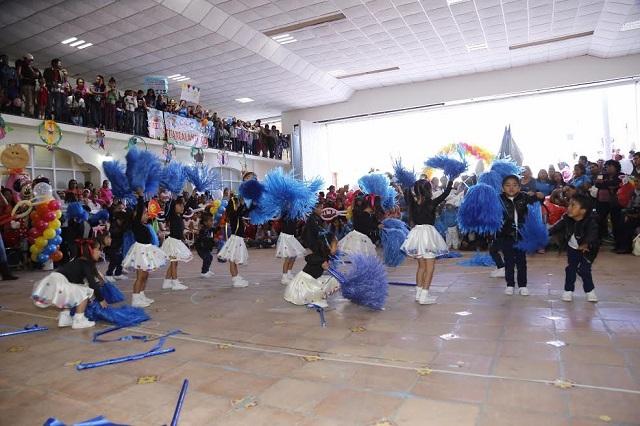 Concursan en rondas infantiles y tablas rítmicas en Cholula