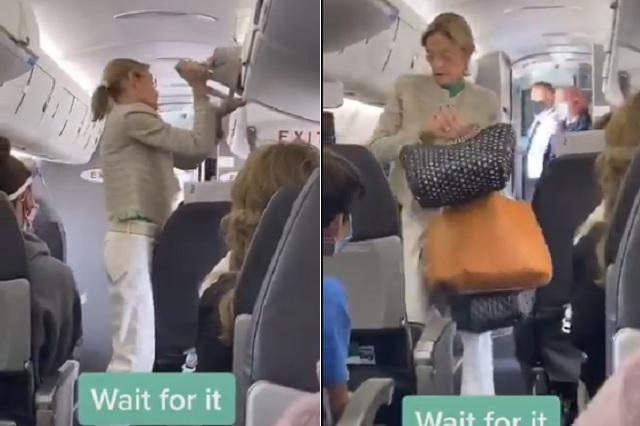 Aplauden a piloto por bajar a pasajera sin cubrebocas