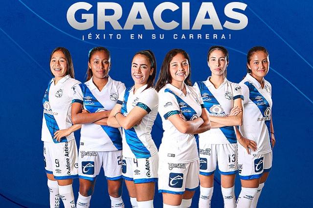Sigue la limpia en Puebla: equipo femenil anuncia a sus primeras 6 bajas