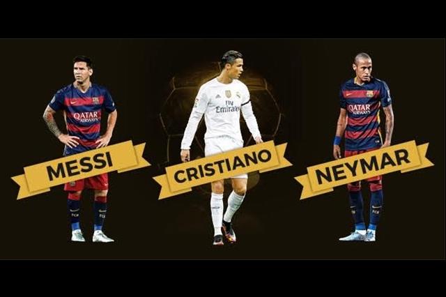 Leo Messi, Neymar y Cristiano Ronaldo nominados al Balón de Oro
