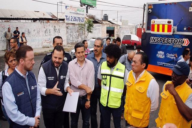 Revisa municipio estado de 66 calles de la ciudad de Puebla