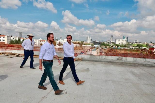 Banck y Albizuri supervisan obras ejecutadas en Puebla capital