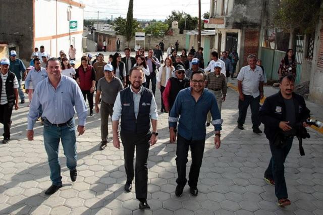 Banck encabeza jornada de trabajo en San Jerónimo Caleras