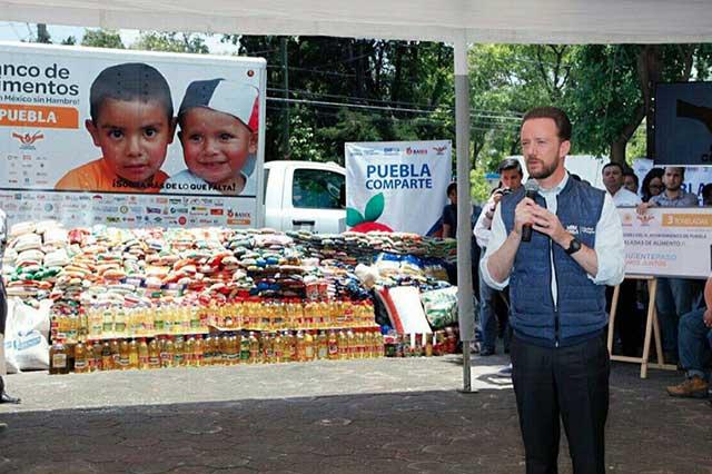 Trabajadores del Ayuntamiento donan tres toneladas de alimentos
