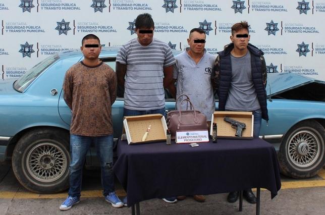 Detienen a banda dedicada al robo a negocio en Puebla