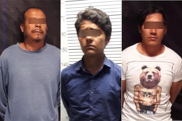 Detiene SSP a tres miembros de una banda narcomenudista